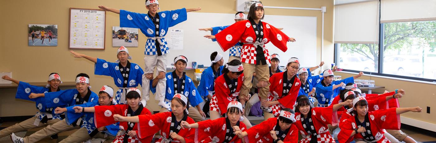 Kofu School Exchange Students